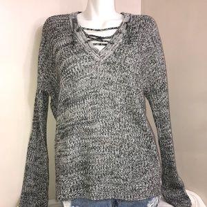 Streetwear Society Mixed Stone Grey V-Neck Sweater